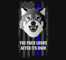 The Pack Looks After its Own Blue Line American Flag Unisex T-Shirt