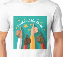 Teacher of the Month thumbs up design.  Unisex T-Shirt