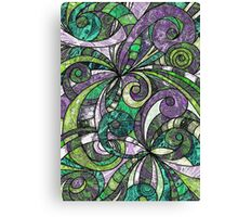 Drawing Floral Zentangle Canvas Print