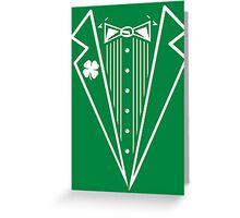Irish Tux Greeting Card