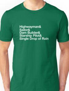 Helvetica Highwayman Unisex T-Shirt