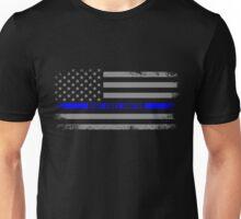Blue Lives Matter Torn American Flag Unisex T-Shirt