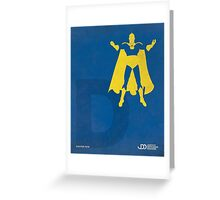 Doctor Fate - Superhero Minimalist Alphabet Print Art Greeting Card