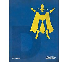 Doctor Fate - Superhero Minimalist Alphabet Print Art Photographic Print