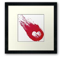 Heart Meteor Framed Print