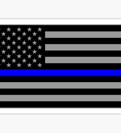 Basic Thin Blue Line American Flag Sticker