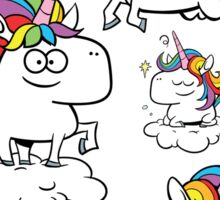 Rainbow Unicorns Sticker
