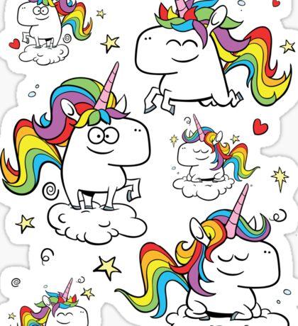 Rainbow Unicorns Sticker