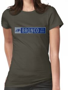 Bronco Blvd Blue Clovis North back to school Womens Fitted T-Shirt