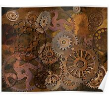 Changing Gear - Steampunk Gears & Cogs Poster