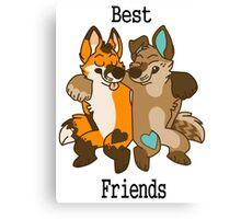 Best Furry Friends Canvas Print