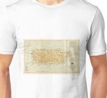 Vintage Map of Puerto Rico (1898) Unisex T-Shirt