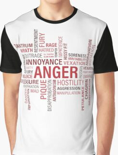 Anger Word Cloud Graphic T-Shirt