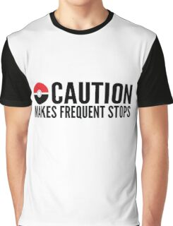 Caution Makes Frequent Stops Pokemon Graphic T-Shirt
