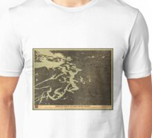 Vintage Map of The Puget Sound (1891) 2 Unisex T-Shirt