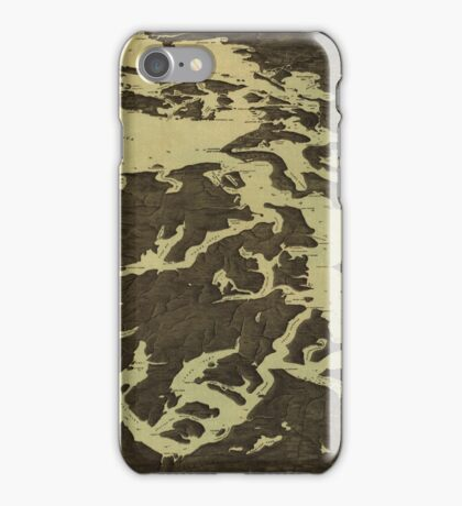 Vintage Map of The Puget Sound (1891) 2 iPhone Case/Skin