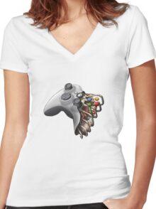Gamer Life Women's Fitted V-Neck T-Shirt