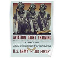 Vintage poster - Aviation Cadet Training Poster
