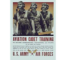 Vintage poster - Aviation Cadet Training Photographic Print