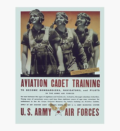 Vintage poster - Aviation Cadet Training Photographic Print