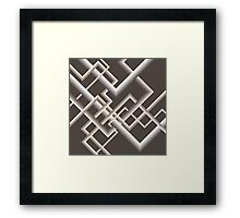 Monochromatic Brown Linework Framed Print