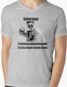 Informer 90s Rap Retro Vintage Shirt Mens V-Neck T-Shirt
