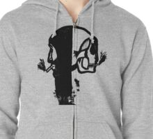 Reversed reflection edit transparent Zipped Hoodie