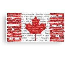 Canada's Native Tongues Canvas Print