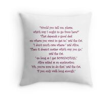 It Doesn't Matter Which Way You Go Throw Pillow