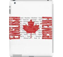 Canada's Native Tongues iPad Case/Skin
