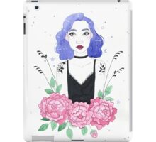 Witchy Girl With Purple Hair iPad Case/Skin