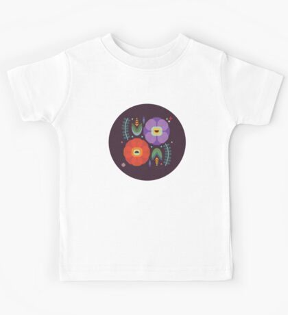 Flowerfully Folk Kids Tee