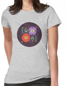 Flowerfully Folk Womens Fitted T-Shirt