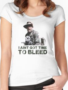 Predator I Aint Got Time To Bleed Women's Fitted Scoop T-Shirt