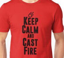 Keep Calm and Cast Fire Unisex T-Shirt