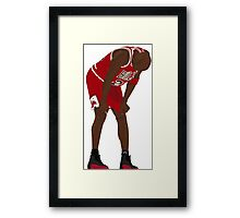 Jordan. Game 5. Flu. Framed Print