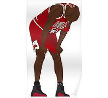 Jordan. Game 5. Flu. Poster