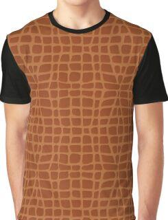 Brown Alligator Skin Graphic T-Shirt