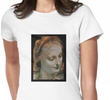 Face of Mary Womens Fitted T-Shirt