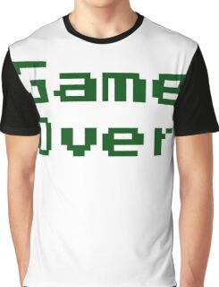 Game Over Retro Game T-Shirt Graphic T-Shirt