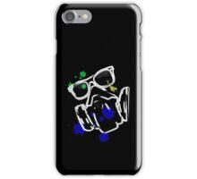 DiMo's Adeptus Paintorum logo with paint splat iPhone Case/Skin