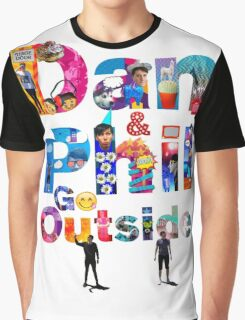 Dan and Phil Go Outside Graphic T-Shirt