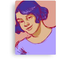 Young Woman Smiling Canvas Print
