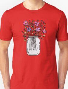 Mason Jar with Flowers T-Shirt