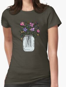 Mason Jar with Flowers T-Shirt