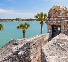 Castillo de San Marcos and Matanzas Bay, St. Augustine, FL by Kenneth Keifer