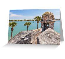 Castillo de San Marcos and Matanzas Bay, St. Augustine, FL Greeting Card