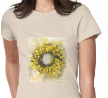 Forsythia Wreath Womens Fitted T-Shirt