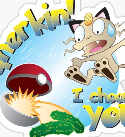 Gherkin! I choose you! Sticker