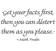 Get Your Facts First Photographic Print